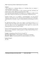 Titel: Energimæssige effekter af afgiftslempelser for ... - TetraPlan A/S