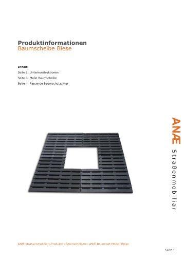 Produktinformationen Biese - ANAE Straßenmobiliar