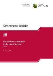 Gericht im Frei - Statistik - Freistaat Sachsen