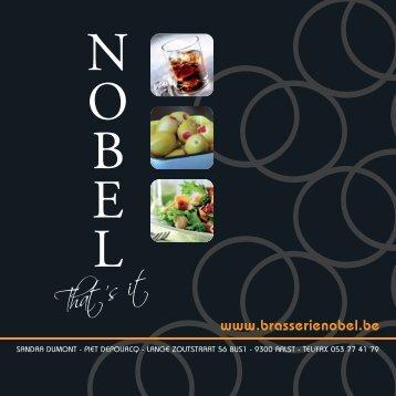 Warme dranken - Brasserie Nobel