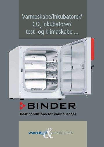 Varmeskabe/inkubatorer/ CO inkubatorer/ test- og klimaskabe ...