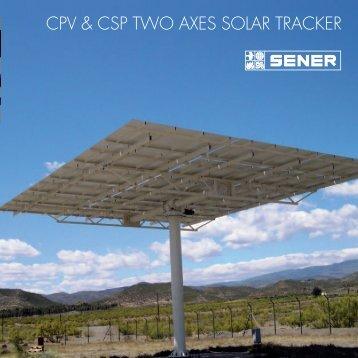CPV & CSP TWO AXES SOLAR TRACKER - SENER