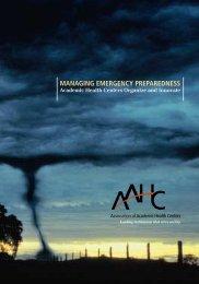Managing Emergency Preparedness - Association of Academic ...
