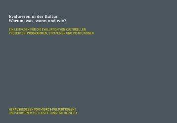 Leitfaden zum Herunterladen (PDF) - Migros-Kulturprozent