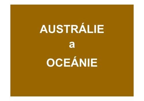 AUSTRÁLIE prezentace