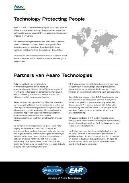 Nederlandse Peltor brochure 2008 - FieldConnect