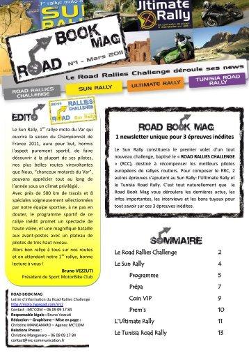 Road Book Mag n°1 - Ultimate Rally