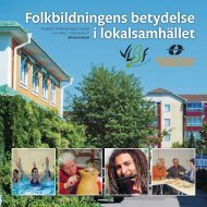Folkbildningens betydelse i lokalsamhället - Medborgarskolan