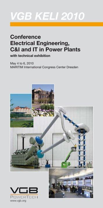 VGB KELI 2010 Conference Electrical ... - VGB PowerTech