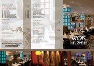 À la carte menu - Wok het Oosten