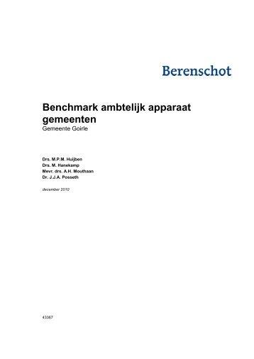 Benchmark ambtelijk apparaat gemeenten - Bestuur - Gemeente ...