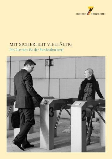 Karriere-Broschüre - Bundesdruckerei GmbH