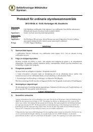 Protokoll SM120928.pdf - Befälsföreningen Militärtolkar