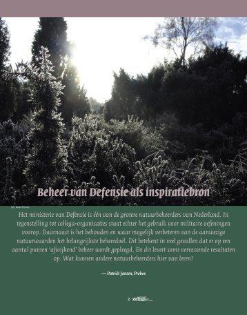 Beheer van Defensie als inspiratiebron