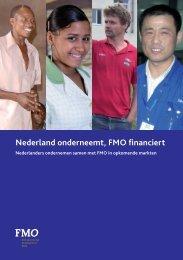 Nederland onderneemt, FMO financiert