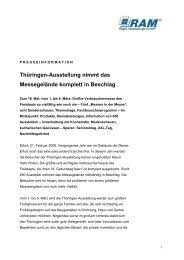 Thüringen-Ausstellung nimmt das Messegelände ... - Y-PR Darmstadt