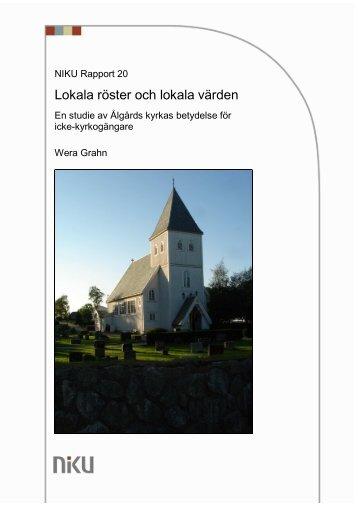 Slutversion Rapport NIKU kyrkan och lokala värden_rev03_09