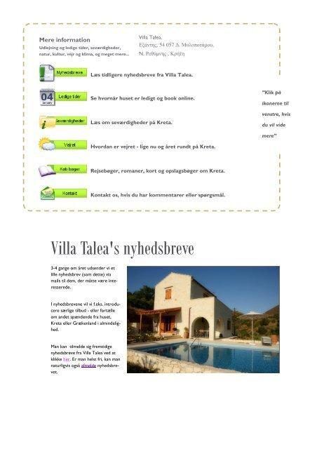 Nyhedsbrev nr. 11, maj, 2012 - Holiday Crete
