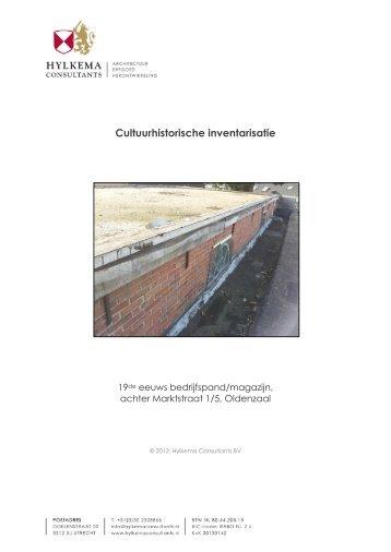 bouwhistorische inventarisatie - De Bombazijn