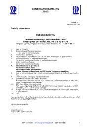 Dagsorden Genralforsamlingen - SSP Samrådet
