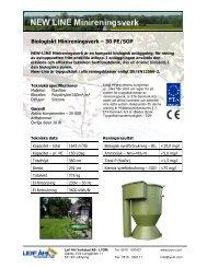 Biologiskt Minireningsverk – 30 PE/SOP - Leif Åhl Verkstad AB