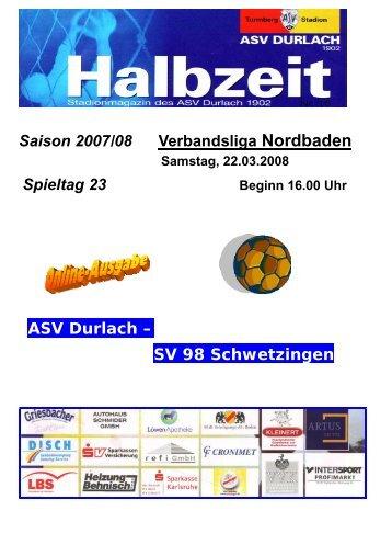 Verbandsliga Nordbaden Saison 2007/08 - ASV Durlach