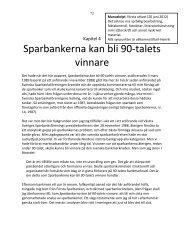 Sparbankerna kan bli 90-talets vinnare - karlhenrikpettersson.se