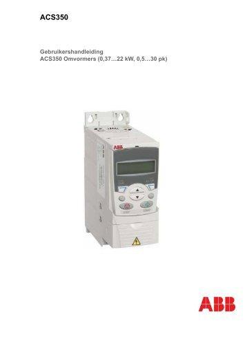 Handleiding ACS350 - Electro Drive BV