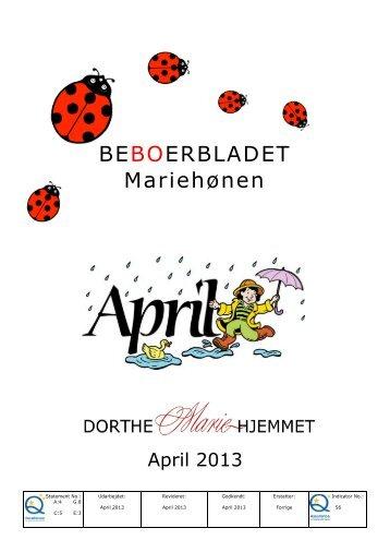 April 2013 - Mariehjemmene