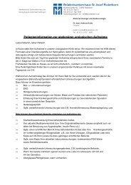 Patienteninformation zur stationären urologischen Aufnahme