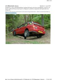(1/6) Bilakrobatik i skoven Oprettet d. 1. juni 2010 ... - bilsport.dk