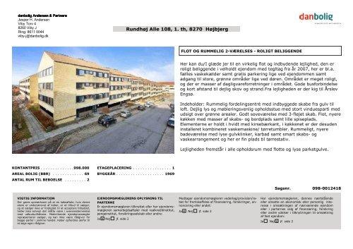 Rundhoj Alle 108 1 Th 8270 Hojbjerg Danbolig