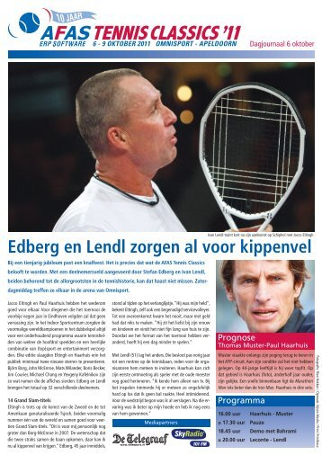 Edberg en Lendl zorgen al voor kippenvel - AFAS Tennis Classics