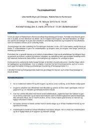 Her kan du læse tilsynsrapporten for 2013. - CENAPS Dagbehandling