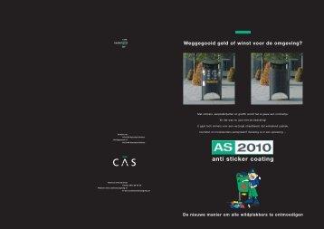 Folder AS 2010 Anti-Sticker Systeem - CAS Nederland