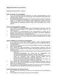 Bijlage 3 Gebruikseisen voor bouwwerken Bijlage behorende bij ...
