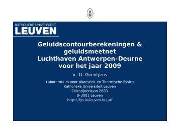 Presentatie resultaat geluidsmeetnet 2009 + overzicht ...