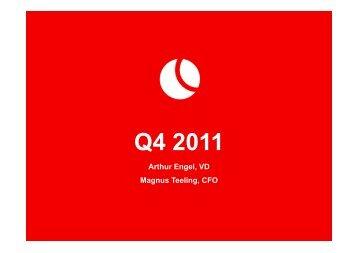 Q4 2011 - Björn Borg