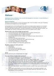 Gehoor - GGD Zeeland