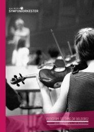 program: så syng da aalborg! - Aalborg Symfoniorkester