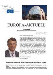 Europa-Aktuell Februar 2007 - Reimer Böge, MdEP