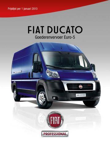 Prijslijst FIAT Ducato - Fiat Professional