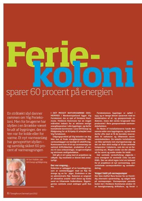 sparer 60 procent på energien - Energiforum Danmark