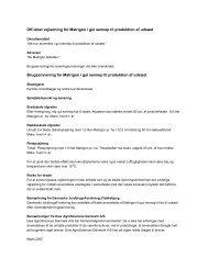 Off-label vejledning for Matrigon i gul sennep til produktion af udsæd ...