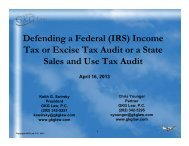 Defending a Federal (IRS) Income Tax or Excise Tax ... - GKG Law