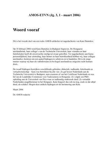 AMOS-ETVN (Jg. 3, 1 - maart 2006).pdf - Comenius - Vereniging ...