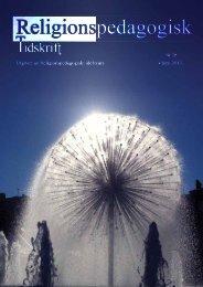 Religionspedagogisk tidskrift - nr 26 - Religionspedagogiskt idéforum