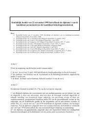 Koninklijk besluit van 22 november 1990 betreffende de ... - CSPE
