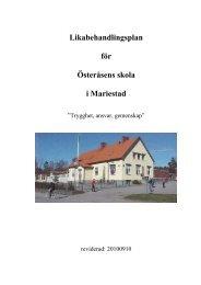 Likabehandlingsplan för Österåsens skola i Mariestad
