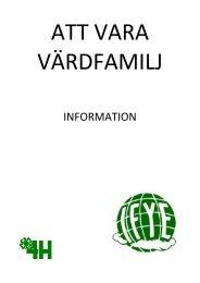 INFORMATION - Sveriges 4H